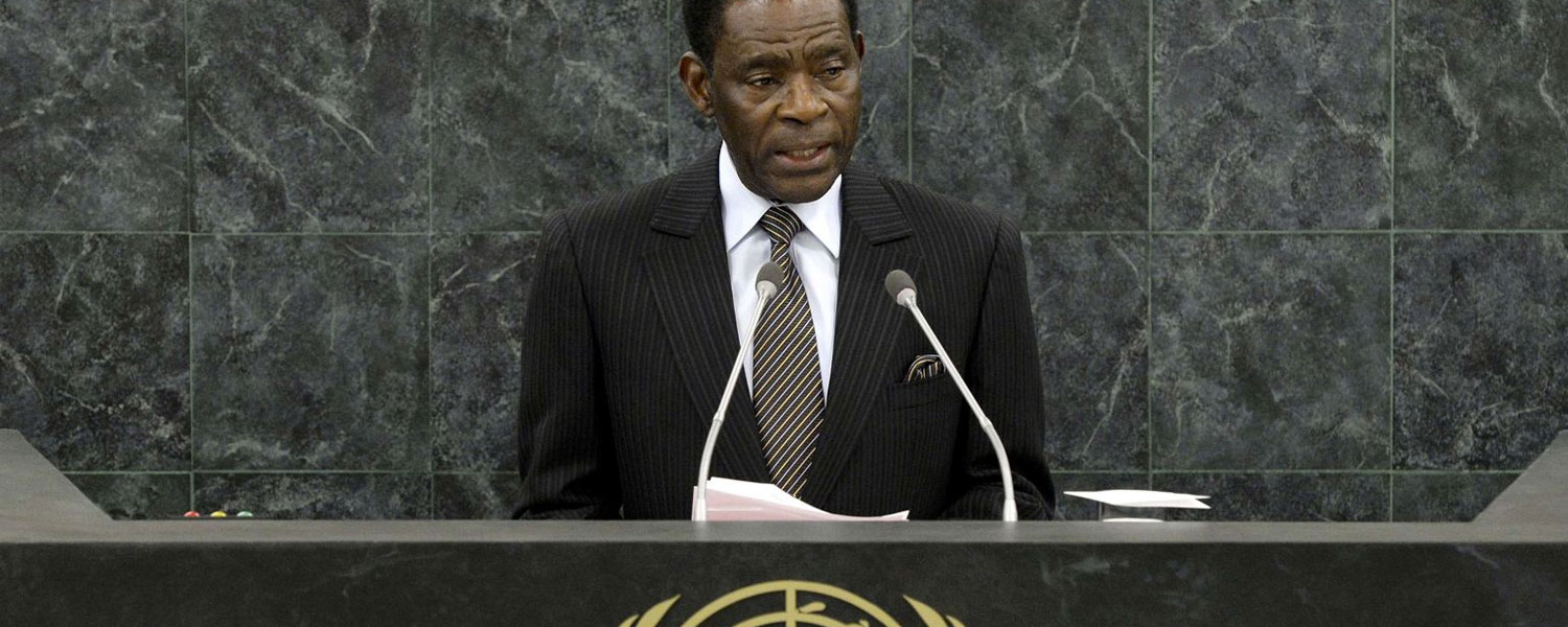 H.E. Obiang Nguema Mbasogo, President of Equatorial Guinea, addresses the UNGA